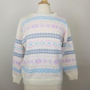 80's Vintage Pastel Alicia Oversized Knit Sweater